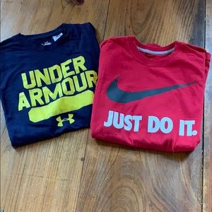 Tee shirt bundle Nike and Under Armour